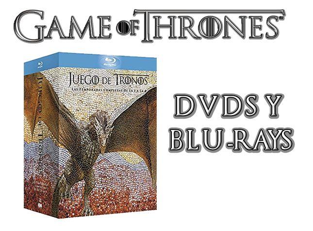 DVDS Y BLURAYS JUEGO DE TRONOS