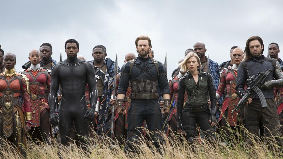 Imagen del cartel de 'Vengadores: Infinity war'