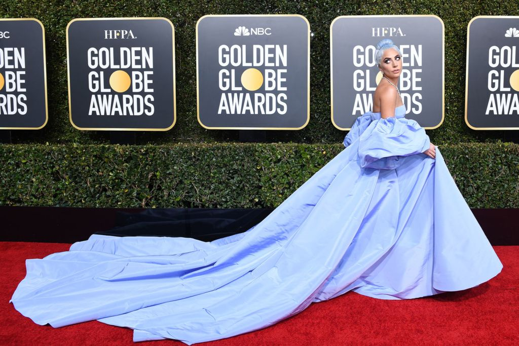 """Best Actress in a Motion Picture – Drama for """"A Star is Born"""" nominee Lady Gaga arrives for the 76th annual Golden Globe Awards on January 6, 2019, at the Beverly Hilton hotel in Beverly Hills, California. (Photo by VALERIE MACON / AFP)"""