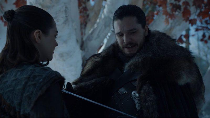 Jon y Arya,imagen Juego de Tronos 8x01